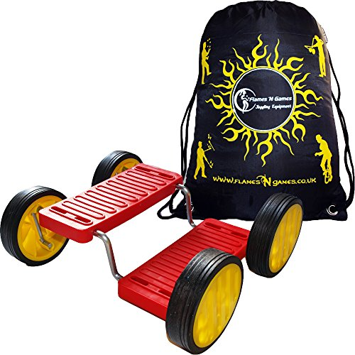 Pedal Go (aka Step Fun) - Red + Flames N Games Travel Bag. ()