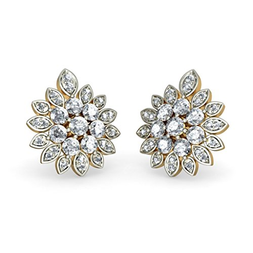 Or jaune 18 K 1,35 CT TW White-diamond (IJ | SI) Boucles d'oreille à tige