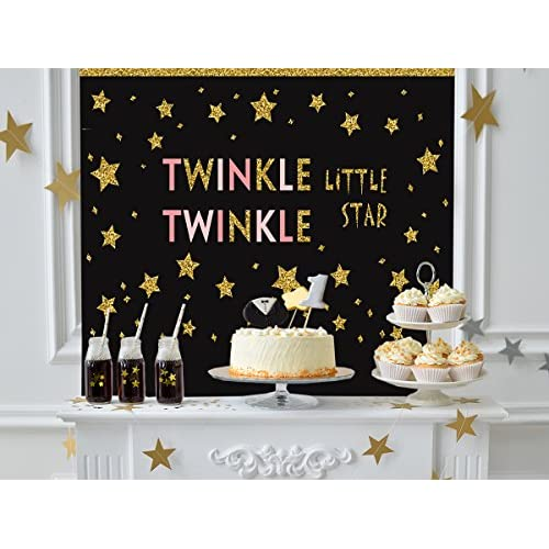 Funnytree 7X5FT Polyester Twinkle Little Star First Birthday