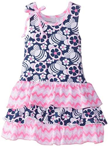 Flap Happy Baby Girls' Tessa Triple Ruffle Dress, Island Reef, 12 Months (Flap Happy Clothes)