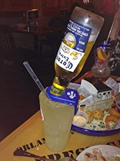 Coronita Rita Corona Bottle Holder Holds a Beer In Your Margarita Glass Blue Version
