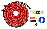 DNF 0 Gauge Red Audio Kit Amplifier Amp Installation Kit 6000W