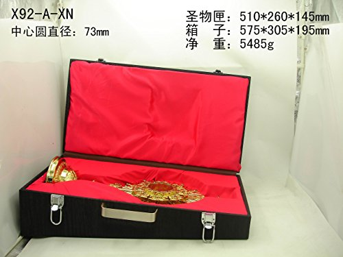 Gold Zircon Decorate Monstrance Reliquary With Luna And Matched Case New Church Chapel Relic 20  High X92 A Xn