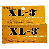 xl 3 cold medicine - XL-3 Cold Medicine Tablets - 2PC