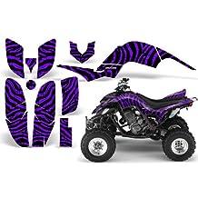 CreatorX Yamaha Raptor 660 Graphics Kit Decals Stickers Zebra Camo Purple
