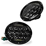 YITAMOTOR 7 Inch 90W Round LED Projector Headlights For Jeep Wrangler TJ 1997-2015 JK 2007-2016 Jeep CJ-7 1976-1986 CJ-8 1981-1985 AM General Hummer 1992-2001 Hummer H1 & H2 2003-2009 Harley Davidson