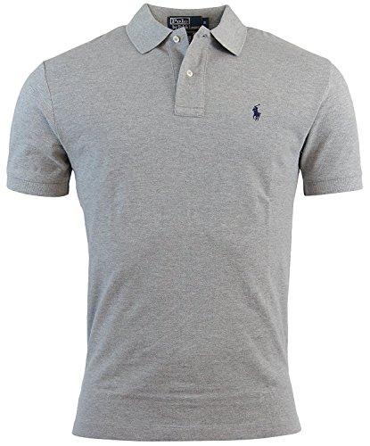 Polo Ralph Lauren Mens Classic Fit Mesh Polo Shirt - XXL - Gray