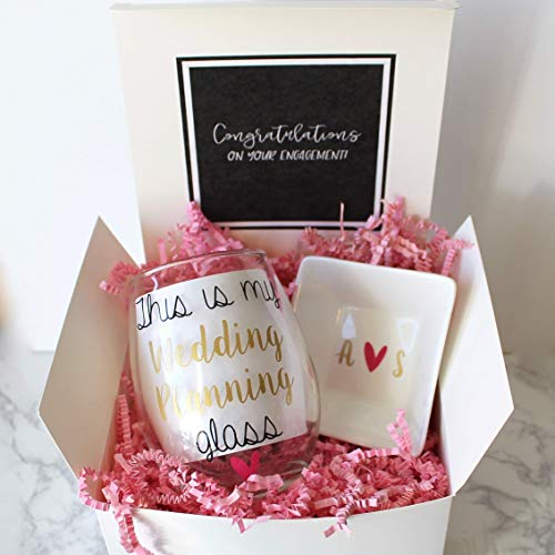 Amazon Engagement Gift Box Wedding Planning Wine Glass