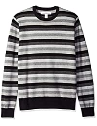 Amazon Essentials mens standard Crewneck Stripe Sweater