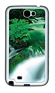 Samsung Galaxy Note II N7100 Cases & Covers - Green River Custom TPU Soft Case Cover Protector for Samsung Galaxy Note II N7100 - White