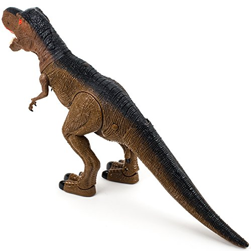 Toysery Remote Control Dinosaur Toy for Kids, RC Walking Dinosaur Toy Roars, Lights & Sounds Fast Forward Function