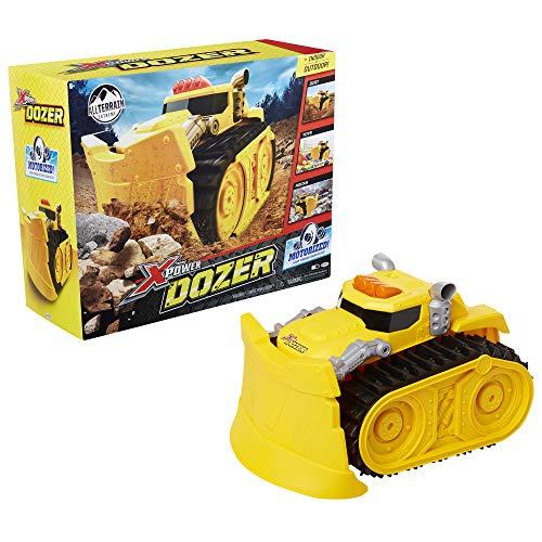 Xtreme Power Dozer Motorized Yellow Bulldozer Construction Vehicle Plows Through Dirt Toys