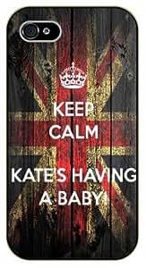 iPhone 5 / 5s Keep calm Kate's having a baby - black plastic case / Keep calm
