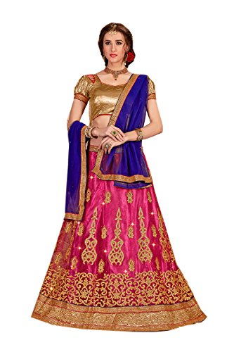 FourCorners2013 Indian Designer Partywear Ethnic Traditional Pink Lehenga Choli by FourCorners2013