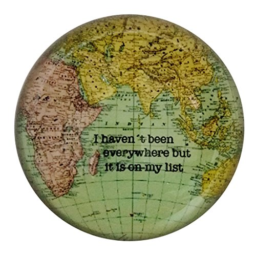 - Crystal Hemisphere World Map Half Ball Paperweight Galss Home Office Table Decoration
