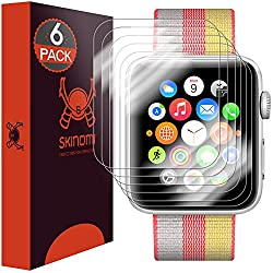 Apple Watch Screen Protector 42mm Series 3/Series 2/Series 1 [Newly Revised] [6-PACK] Skinomi TechSkin Full Coverage Screen Protector for Apple Watch 42mm Clear HD Anti-Scratch Anti-Bubble Film
