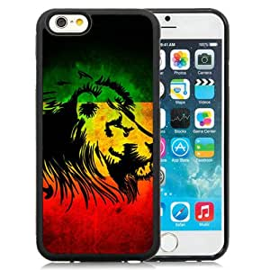 Hot Sale iPhone 6/iPhone 6S 4.7 Inch TPU Case ,Rasta Lion Black iPhone 6/iPhone 6S Cover Unique And Popular Designed Phone Case