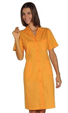 Isacco-Bata de Trabajo para Mujer, Color Negro y Naranja: Amazon.es: Ropa y accesorios