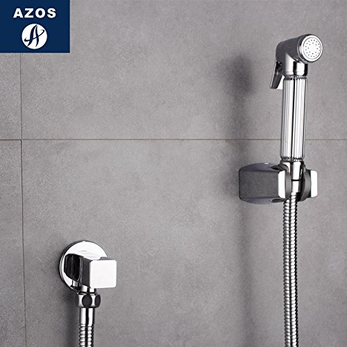 Azos Bidet Faucet Pressurized Sprinkler Head Brass Chrome Cold Water Single Function Washing Machine Pet Bath Toilet Round PJPQ026D by AZOS