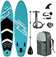 Premium Inflatable Stand Up Paddle Board (6 inches Thick) with Durable SUP Accessories & Carry Bag   Wide