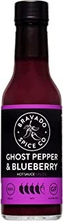 product image for Ghost Pepper and Blueberry Hot Sauce By Bravado Spice FEATURED ON HOT ONES Gluten Free, Vegan, Low Carb, Paleo Hot Sauce All Natural 5 oz Hot Sauce Bottle Award Winning Gourmet Hot Sauce