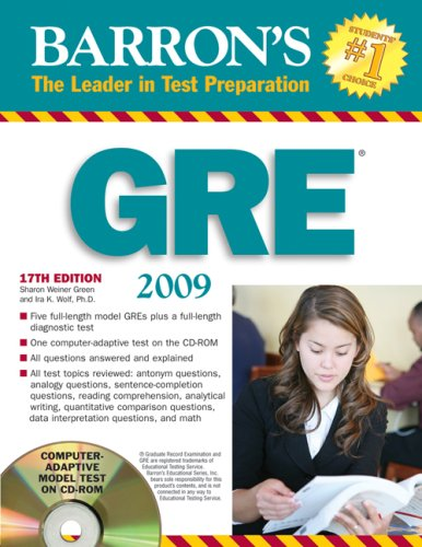 Barron's GRE: Graduate Record Examination Record Voice Over Music