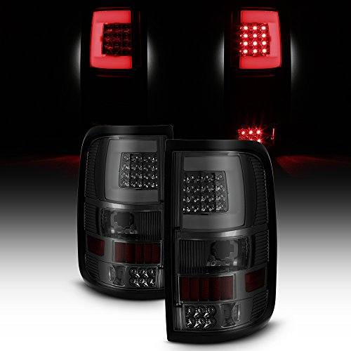For 2004 2005 2006 2007 2008 Ford F150 LED Tube Smoked Lens Tail Lights Brake Lamps Replacement ()