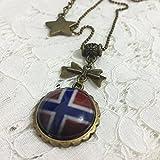 Dreamcosplay Axis Powers Hetalia Norway Logo Girl Necklace Cosplay