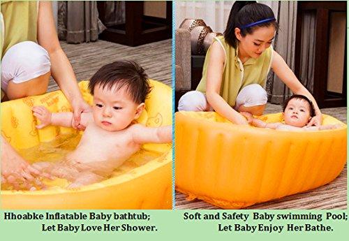 hhobake baby bathtub inflatable baby bathing tubs and seats portable bathtub kid toddler infant. Black Bedroom Furniture Sets. Home Design Ideas