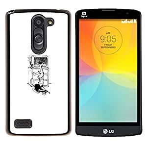 YiPhone /// Prima de resorte delgada de la cubierta del caso de Shell Armor - El Anillo Funny Girl - LG L Prime D337 / L Bello D337