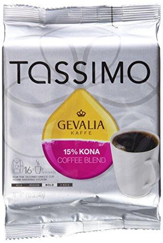 Gevalia Kaffe 15% Kona Blend Coffee (Pack of 5) (Kona Coffee Tassimo)