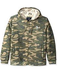 Mens Standard Fashion Sherpa Lined Fleece Hoodie