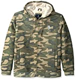 U.S. Polo Assn. Mens Standard Fashion Sherpa Lined Fleece Hoodie, Forest Night 5918, 3X