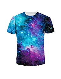 Azuki Men's Fashion Tunic Tops Funny Realistic 3D Printed T-Shirts