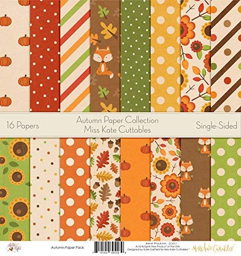 - Pattern Paper Pack - Autumn - Scrapbook Premium Specialty Paper Single-Sided 12