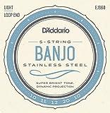 Stainless Steel Banjo Strings - 5 String, Light, 10-20