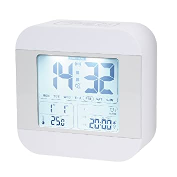 Talking Alarm Clock With 3 Alarms, Snooze, Smart Light, Wake You Up Softly