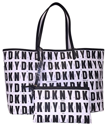 DKNY Logo Signature Reversible Tote with Wristlet by DKNY