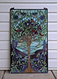 20'' X 34'' Large Tiffany Style Stained Glass Window Panel Tree Of Life