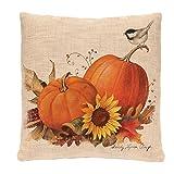 Happy Halloween Pumpkin Square Pillow Cases Linen Sofa Cushion Cover Home Decor,45×45CM,Tuscom (4PC /C)