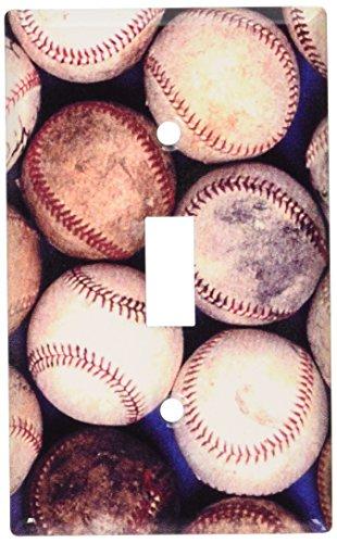 (Art Plates - Old Baseballs Switch Plate - Single Toggle)