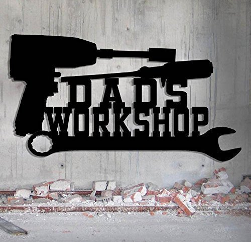 Mechanic's Workshop Sign - Toolbox - Shop Sign - Tool Sign - Customize It Personalized Sign - Metal Wall Art Man Cave Grandpa's Dad's Or Custom - Mens Shop Names