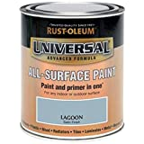 Rust-Oleum Universal All Surface Brush Paint and Primer Satin Lagoon - 750ml by Rustoleum
