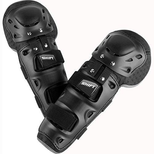 Shift Racing Enforcer Adult Knee/Shin Guard Dirt Bike Motorcycle Body Armor - Black/One Size by Shift