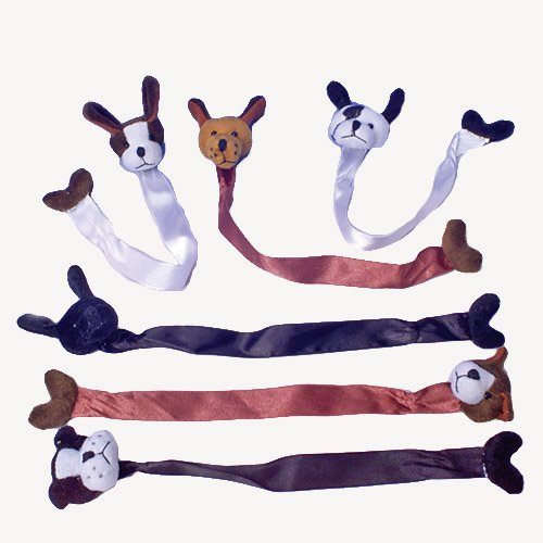 Puppy Bookends - U.S. Toy Plush Dog Bookmarks, 12 Pieces