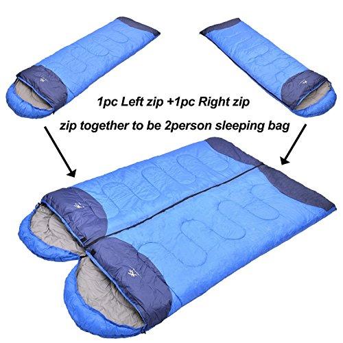 Agemore 32-60 F Degree Warm Weather Camping Sleeping Bag ...