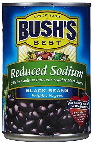 BUSH'S BEST Reduced Sodium Black Beans, 15 oz.