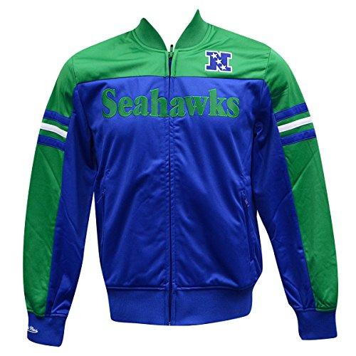 Seattle Seahawks Mitchell & Ness Defensemanトラックジャケット
