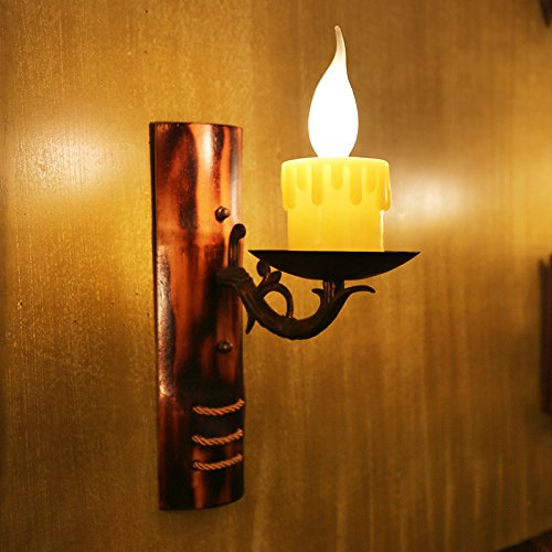 Leihongthebox Wall Sconce Industrial Edison retro style Wall lamp Chinese Antique single head candles Wall Sconce lights Kukeng welcome bamboo (Oil Rubbed Bronze) (Bronze Bamboo Single)