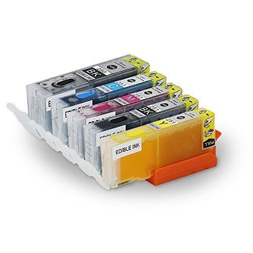 INKUTEN – Edibleインク5パックPGI 250 pgi-250 X L CLI 251 cli-251 X L高イールドmg5420、mg5520、mg6420、mx922 Kケーキ印刷withリセット可能チップ B0735FGDWN